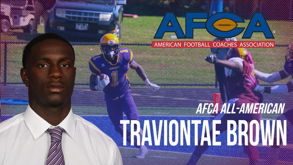 Benedict's Traviontae Brown Named AFCA All-American - SIAC